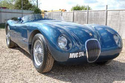 Nostalgia Cars C-Type, front view